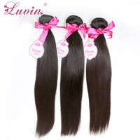Rosa Hair Products Brazilian Virgin Hair Straight 3PCS/Lot Grade 6A Brazilian Human Hair Weave Bundles Brazilian Hair Weft