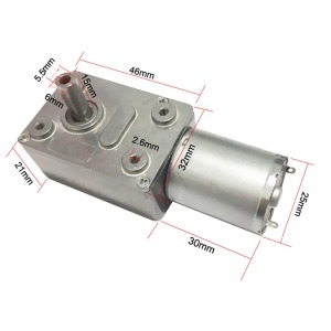 6V 24V Worm Gear Motor 12V Reducer 3-210RPM DC High Torque Electric Motor Metal Gear Reverse Self Lock For Automation Equipment(China)