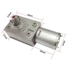 6V 24V Worm Gear Motor 12V Reducer 3-210RPM DC High Torque Electric Motor Metal Gear Reverse Self Lock For Automation Equipment