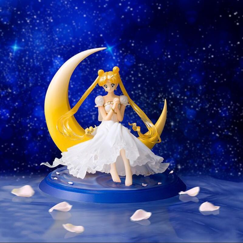 Sailor Moon Action Figure 1/8 scale painted figure Princess Serenity Doll PVC Action Figure Collectible Model Toy 13cm KT3406 terminator 3 rise of the machines t x 1 6 scale pre painted pvc action figure collectible model toy 28cm