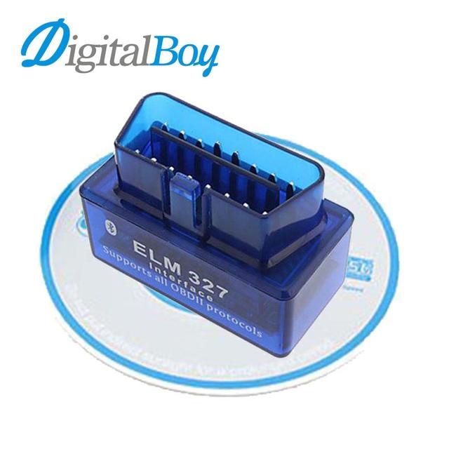 Car Diagnostic Scan Tool OBD2 OBDII ELM327 Mini Bluetooth V2.1 Car Diagnostic Tester Trip Computer Tracking Code