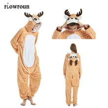 여성 Kigurumi 잠옷 유니콘 잠옷 세트 플란넬 귀여운 동물 잠옷 키트 겨울 unicornio Nightie 잠옷 Sleepwear Homewear