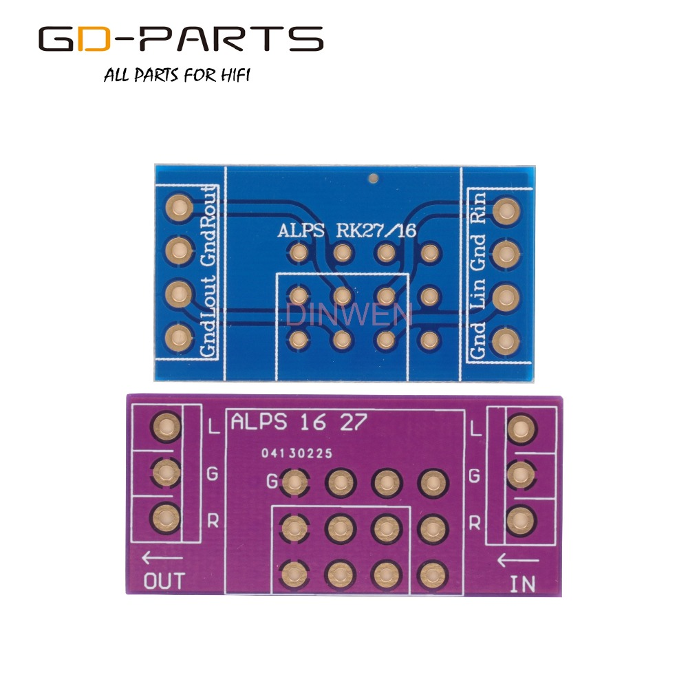 Double Sides FR4 PCB Board Adapter Circuit Board For ALPS RK16 RK27 Volume Potentiometers Hifi Audio DIY 1PC