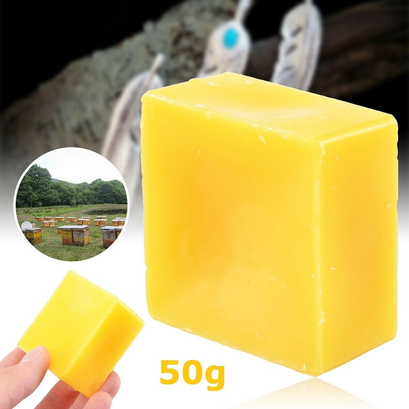 50g Organic Beeswax Cosmetic Grade Filtered Natural Pure Bees Wax Bars 1.76oz Maintenance Protect Wood Furniture Polishing Wax