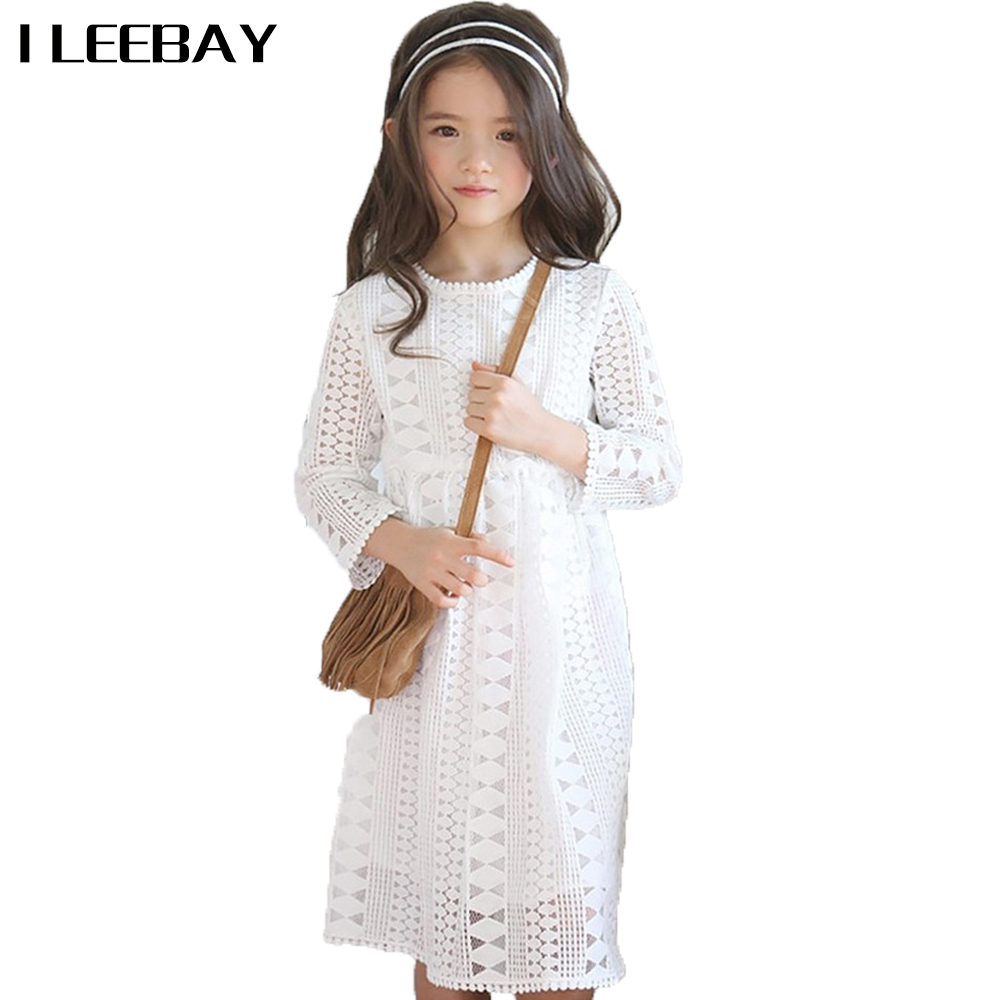 Baby Girls Autumn Princess Dress Kid Hollow Out Casual Dress Children Long Sleeve Solid Party Costume Baby Girls Toddler Clothes hollow out skinny long sleeve dress