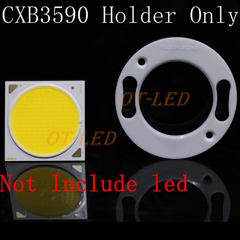 Plastic COB Led Holder For Cree CXB3590 CXA3590 COB Led Emitter Lamp Light. 114w cree cxa3070 cxa 3070 white 5000k warm white 3000k led emitter lamp light with plastic led holder