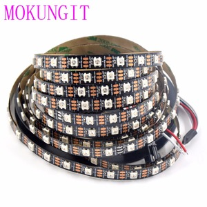 Image 1 - 50 M 10X5 M 60 LEDS/M 300 LEDs SK6812 WS2812B Individualmente Endereçável 5050 RGB LED Strip luz LED Pixel Lâmpada Flexível
