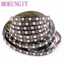 50M 10X5M 60 LEDS/M 300LEDs SK6812 WS2812B عنونة منفردة 5050 RGB شريط إضاءة LED مصباح مرن بكسل LED