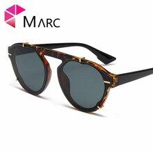 MARC Fashion Personality Sunglasses Women Men glasses Rivet Leopard print Gafas sol de Brand Designer 2019 Cat eye 1