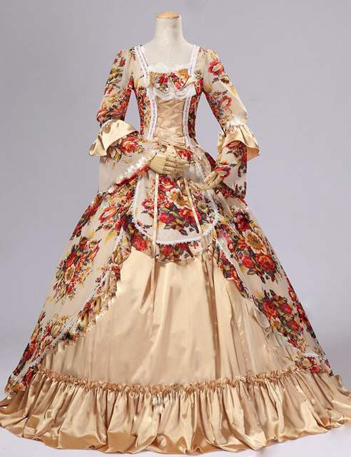 Top sale 18th century rococo georgian fashion marie for 18th century wedding dress