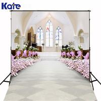 3M*2M(10*6.5 Ft) Kate Gorgeous Photography Backdrop White Basilica Flowers Photography Backgrounds For Wedding Background