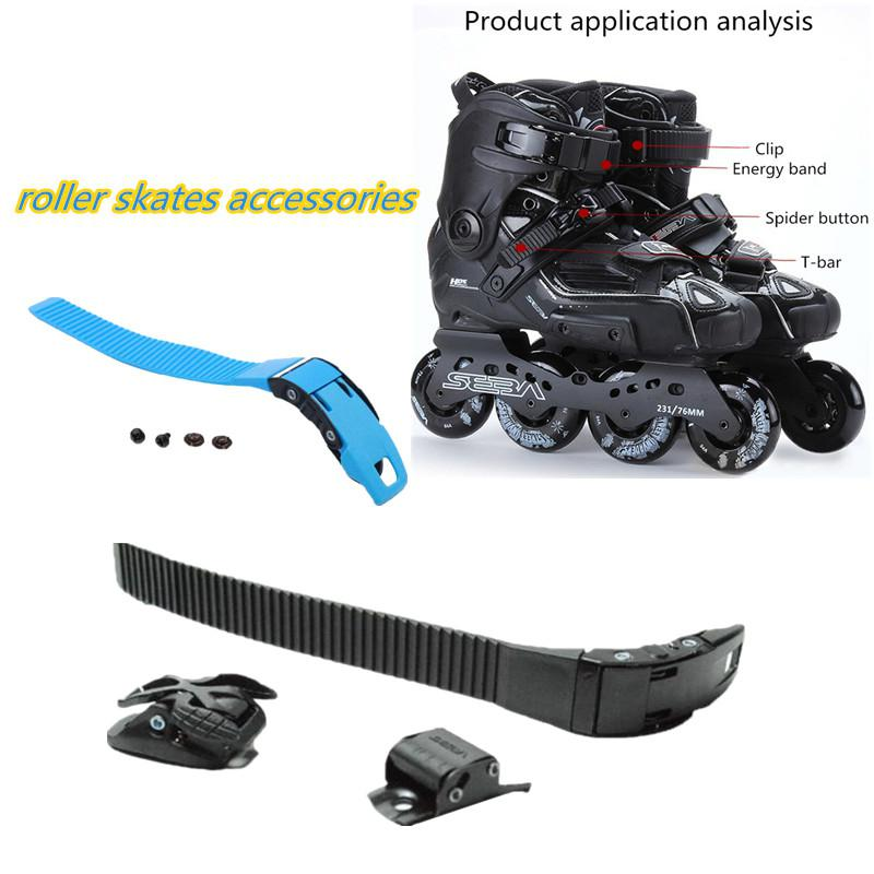 Mounchain Inline Roller Skates Accessories Footwear Energy Pulse Wrist Strap Tight Strap Buckle With 2 Screws Or Clasps
