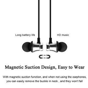 Image 3 - ROVTOP Magnetico Musica Auricolare Bluetooth XT11 Sport In Esecuzione Senza Fili di Bluetooth Auricolare Con Il Mic Per il iPhone 8X7 Xiaomi Huawei