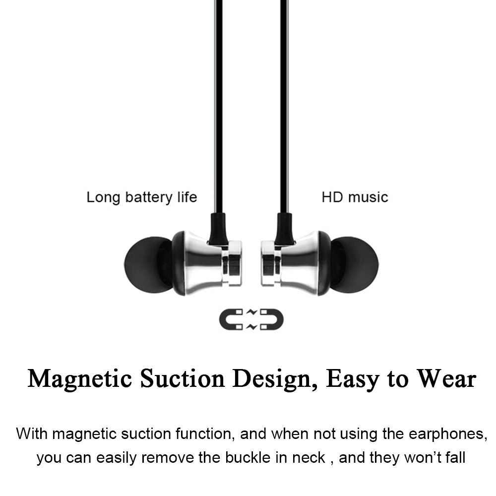 ROVTOP المغناطيسي الموسيقى بلوتوث سماعة XT11 الرياضة تشغيل سماعة لاسلكية تعمل بالبلوتوث سماعة رأس مزودة بميكروفون آيفون 8X7 شاومي هواوي