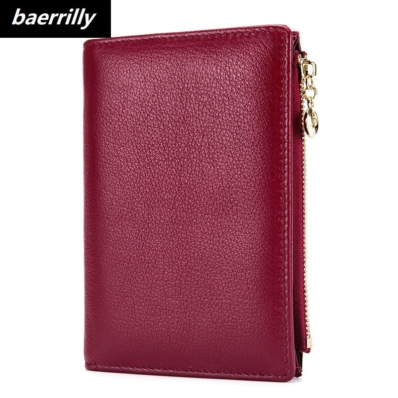 Men Card Wallet Coin Purse Cow Genuine Leather Passport Cover Case Document Holder Large Capacity Women Business Card Holder