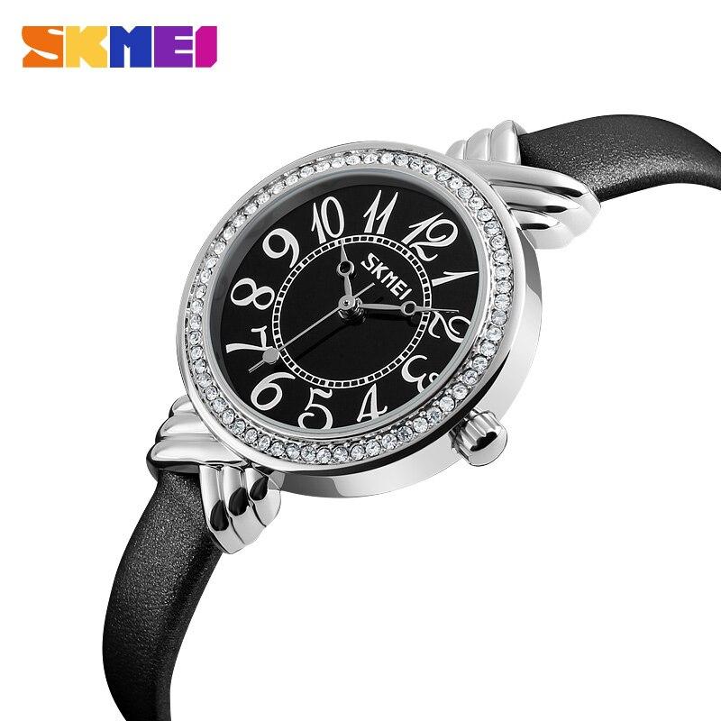 100% Wahr Frauen Uhren Skmei Luxus Marke Frauen Quarzuhr Mode Frauen Armband Uhr Relogio Feminino Mädchen Uhr Uhren Mujer Dauerhafter Service