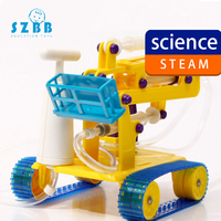 SZ STEAM DIY Children Physical Scientific Experiment Creativity Learning Educational Toy DIY Fire Truck Gift SZ33b9