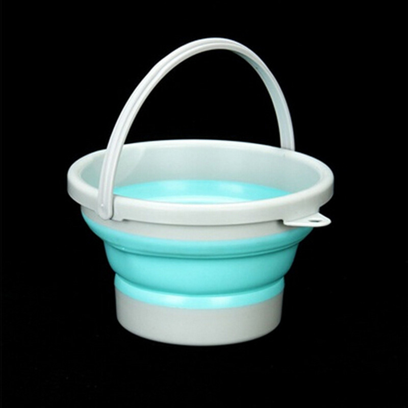 Fishing Tool Portable Folding Bucket Outdoor Thick Silicone Fishing Baits Folding Water Bucket Outdoor Water Tackle Boxes   0.3|Fishing Tackle Boxes| |  -