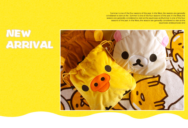 Ivyye 1pcs Rilakkuma Bear Cartoon Drawstring Bags Cute Plush Storage Handbags Makeup Bag Coin Bundle Pocket Purse New For Fast Shipping Luggage & Bags Drawstring Bags