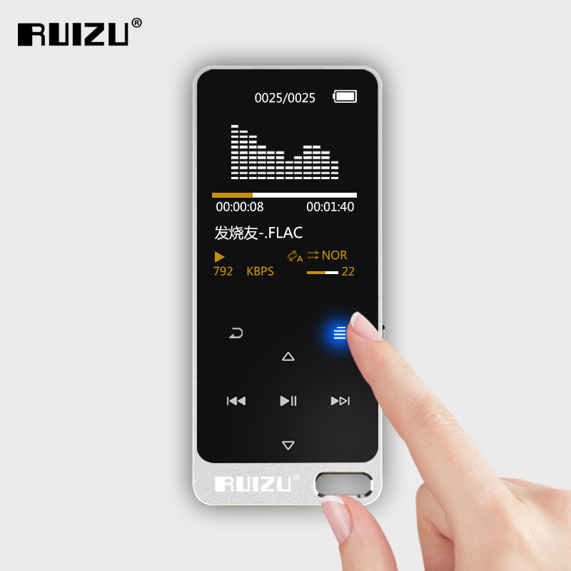 Original RUIZU X05 MP3 Player Portable Digital Music Player/Video/Voice recorder/FM Radio/E-Book Reader with 8GB MP3 Player multi function hd 720p rechargeable 0 9mp pet video recorder w mp3 player white 8gb