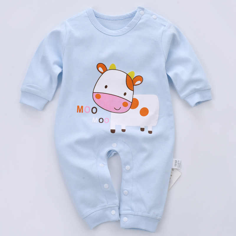 New Long-sleeved Climbing Suit Baby Jumpsuit Exploded Pure Cotton Jumpsuit In Autumn and Winter