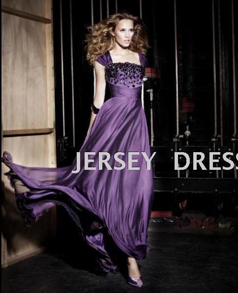 Dinner 2018 Purple New Design Bridal Vestidos Formales Long Brides Maid Sexy Crystal Beaded Evening Mother Of The Bride Dresses