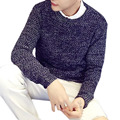 Fashion Basic Style Men Warm Fleece Sweater Winter Autumn Men's Brand Long Sleeve Slim Fit Tracksuit Knitwear Pullover Homme