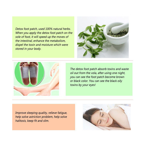 Povihome 120Pcs/Bag Detox Foot Pads Patch Health Care Foot Care Tools Adhesives Herbal Cleansing Slimming Bamboo Pads Patch C033 Islamabad