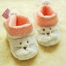 Новое поступление; экспорт; Детские теплые тапочки с героями мультфильмов; домашняя обувь; зимние хлопковые ботинки; обувь для девочек; плюшевая обувь с кроликом