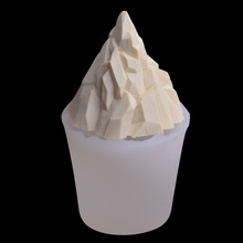 DIY Candle Soap Making Mould 3D Stereoscopic Iceberg Sugar craft Silicone Molds Snow Mountain Mouss Cake Desktop Decorating Mold