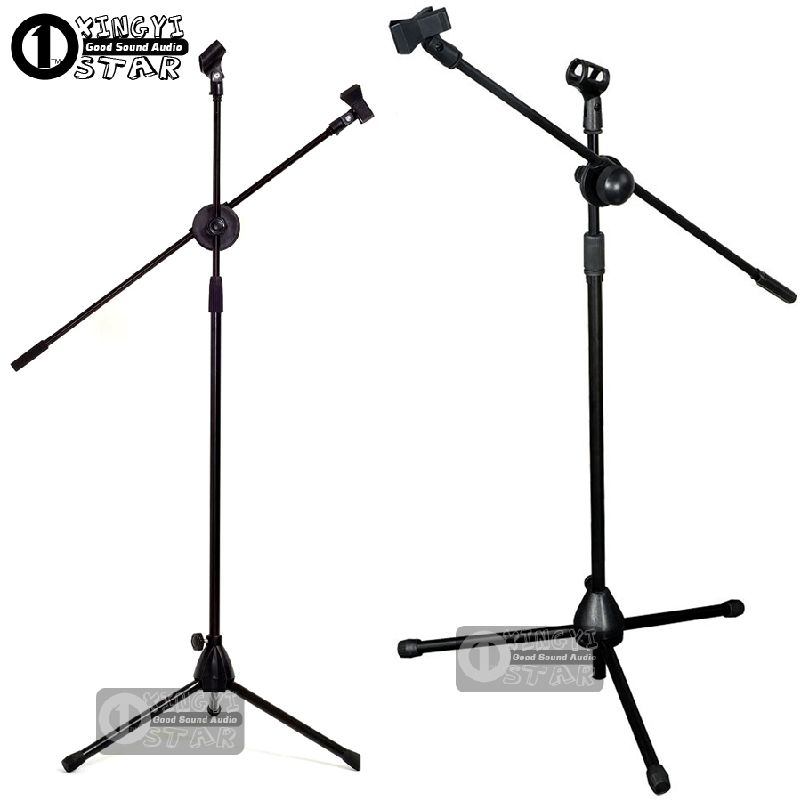 Professional Adjustable Height Wired Dynamic Studio Recording Mic Holder For Singing KTV Wireless Microphone Stand Floor Tripod  professional switch dynamic wired microphone stand metal desktop holder for beta 58 bt 58a ktv karaoke mic microfone audio mixer
