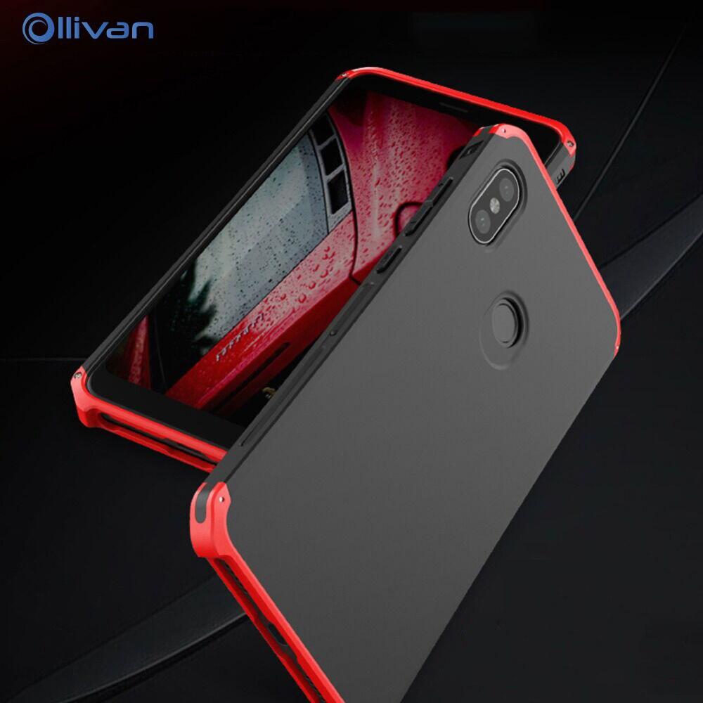 Para Xiaomi RedMi Note 6 Pro caso de lujo de aluminio de Metal armadura a prueba de golpes cubierta de marco para Xiaomi XioMi RedMi Note 5 pro 5Pro Coque