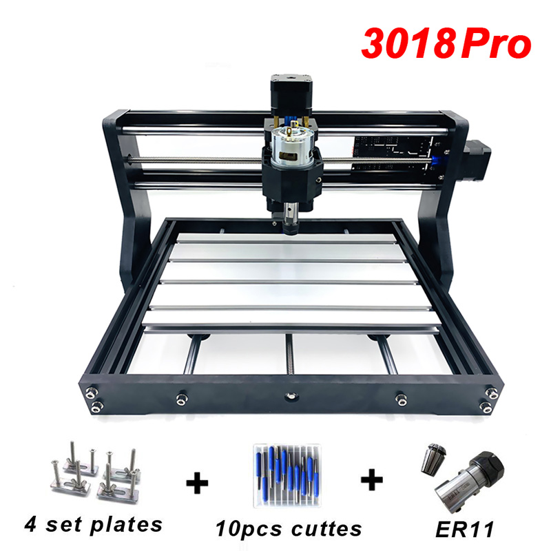 CNC3018 Pro Mini DIY GRBL Laser Engraving Machine ER11 with 500mw 2500mw 5500mw 15W PCB Wood