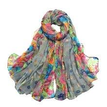 MYTL Womens Spring Autumn Soft Big Long Scarf Vintage Printing Scarves 160*50cm
