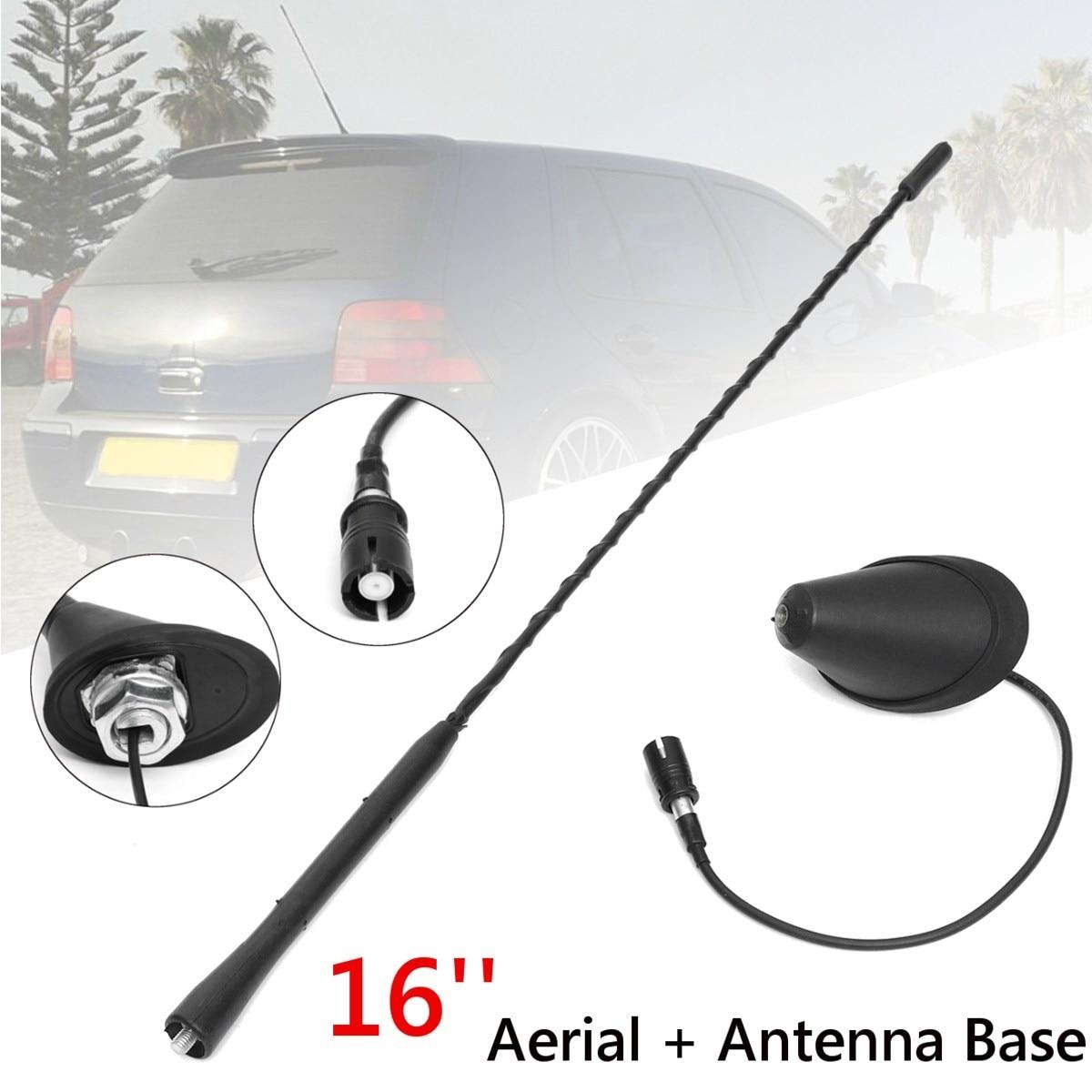 16 pouce Universel AM/FM Antenne Antenne Toit Mât Base Pour VW/Volkswagen/Skoda/Audi/Golf/Passat/Jetta/Bora MK4 1997 1998 1999