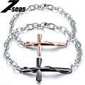 Famous Brand Cross Couple Bracelets Fashion Full Stainless Steel Chain Women Men Valentine Jewelry Gift,JM776