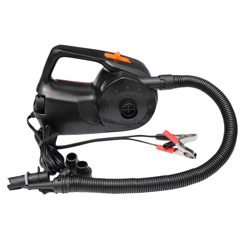 12V 100W Car Rechargable Pump Electric Inflatable Air Pump For Kayak Boat Air Cushions Ball