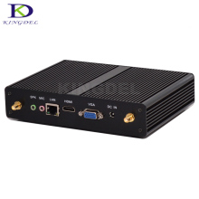 New Arrival Fanless Barebone Mini PC Win7/8/10 Nuc Computer Intel Haswell Celeron 2980u 1080p HTPC TV Box 8GB RAM 256GB SSD(China)