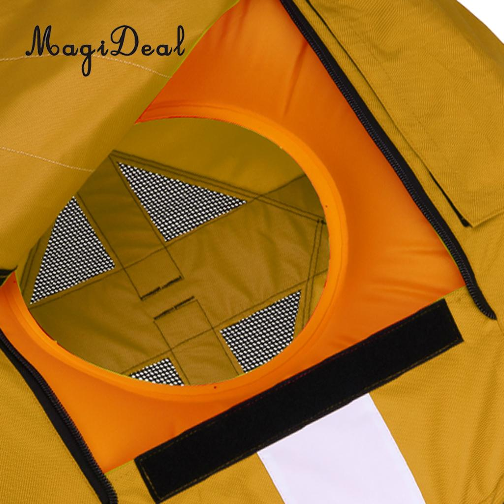 High Visibility Freediving Buoy Safety Inflatable Training Float for Scuba Diving, Spearfishing, Snorkeling - 4 Colors Available