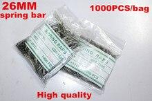 Comercio al por mayor 1000 Unids/bolsa Alta calidad herramientas y kits de reparación de relojes 26 MM barra del resorte de reparación de relojes-041417