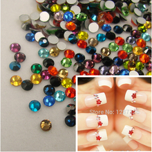 Free Shipping! 1440pcs/Lot, ss4 (1.5-1.7mm) Mixed Colors Flat Back Nail Art Glue On Non Hotfix Rhinestones for nails