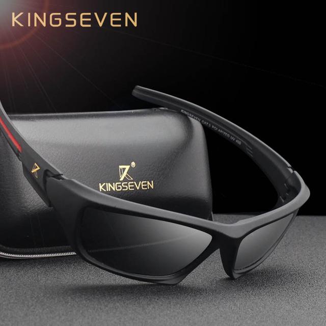 KINGSEVEN Brand 2018 Men's Polarized Sunglasses TR90 Frame Night Vision Mirror Eyewear Sun glasses Men Goggle lunette de soleil