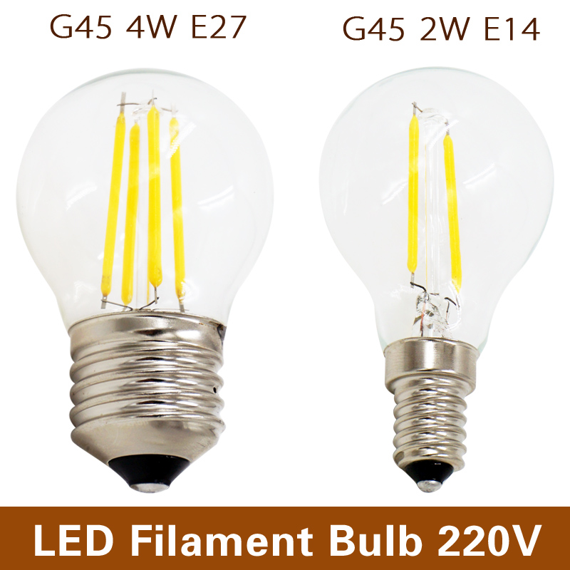 retro edison led filament bulb e27 e14 220v 2w 4w cold. Black Bedroom Furniture Sets. Home Design Ideas