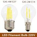 Retro Edison LED Filament Bulb E27 E14 220V 2W 4W Cold White / Warm White Antique Loft Style Lampada Bombilla Ampoule LED