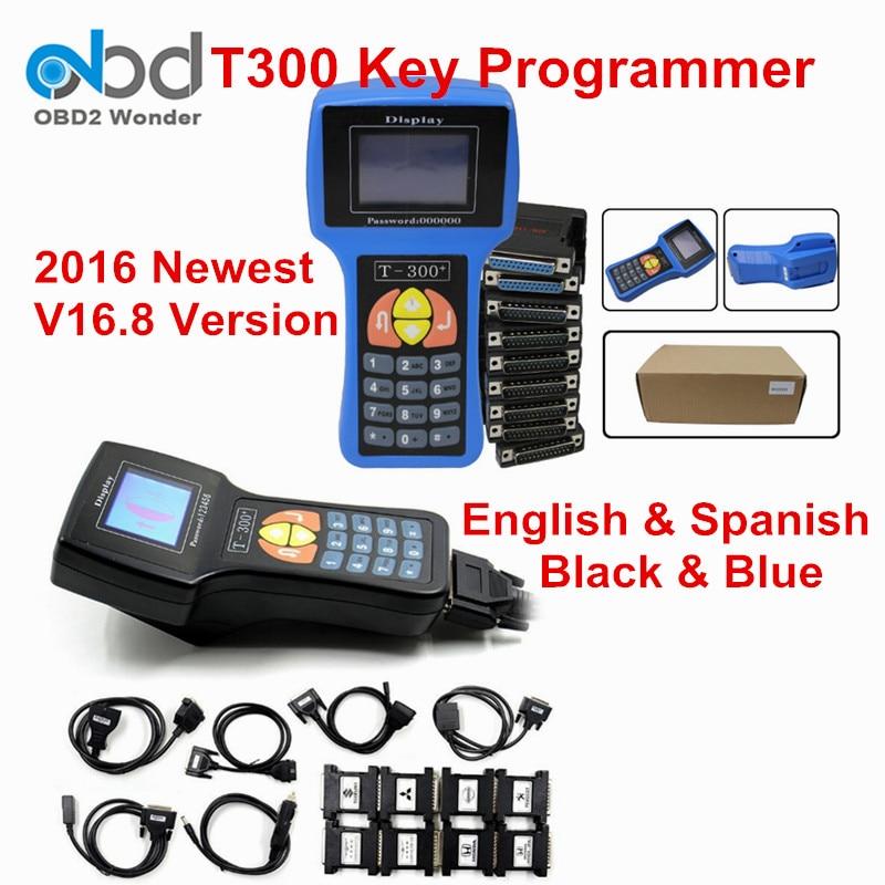 Prix pour DHL Livraison Gratuite Date T300 T 300 V16.8 Auto Key programmeur Pour Multi-Voitures De Voiture Transpondeur T-300 Key Maker Par Lire ECU-IMMO