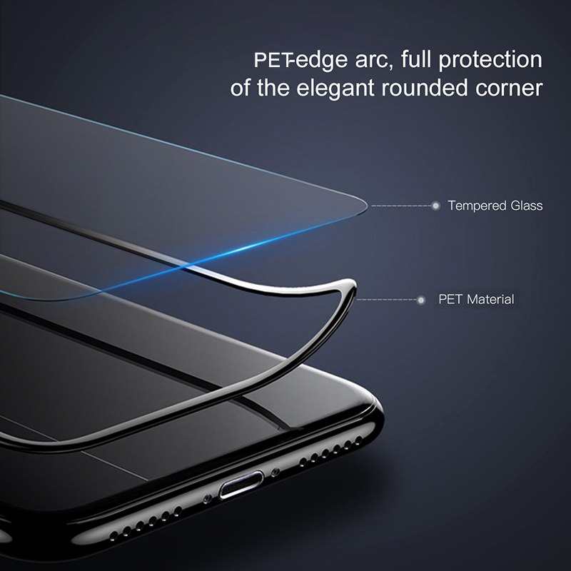 RONICAN Full Cover Tempered Glass for iPhone XS Screen Protector 3D Protective Glass Film for iPhone X 10 on iPhone X 5.8 inch