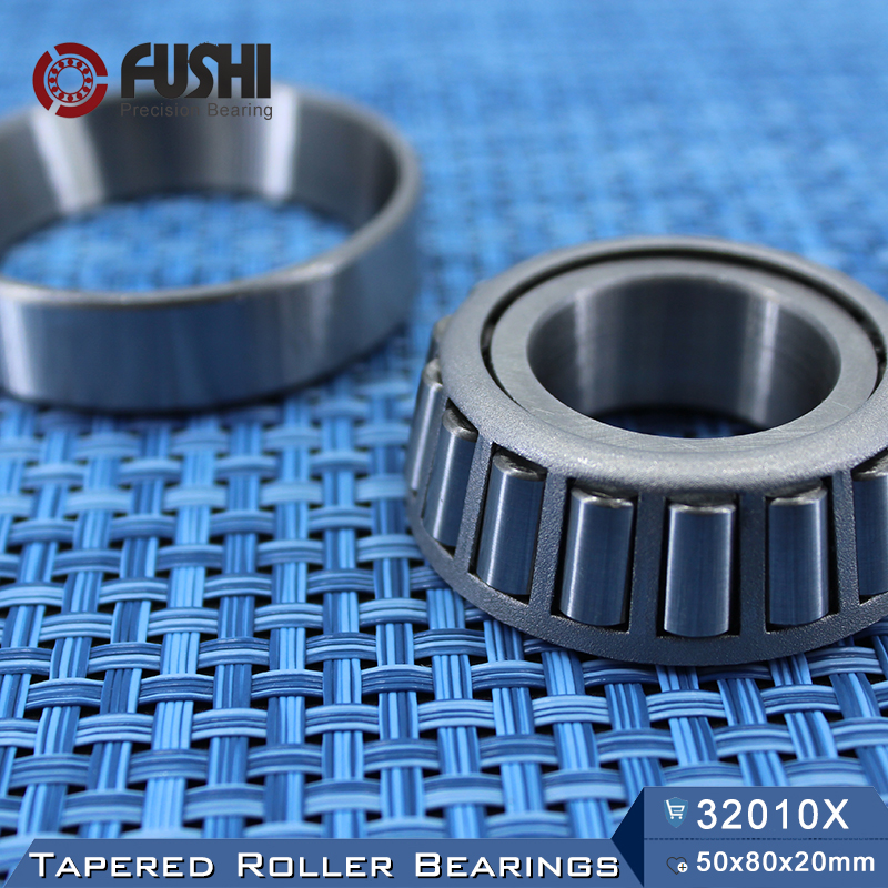 32010 X Bearing 50*80*20 mm ( 1 PC ) Tapered Roller Bearings 32010X 2007110E Bearing nk38 20 bearing 38 48 20 mm 1 pc solid collar needle roller bearings without inner ring nk38 20 nk3820 bearing