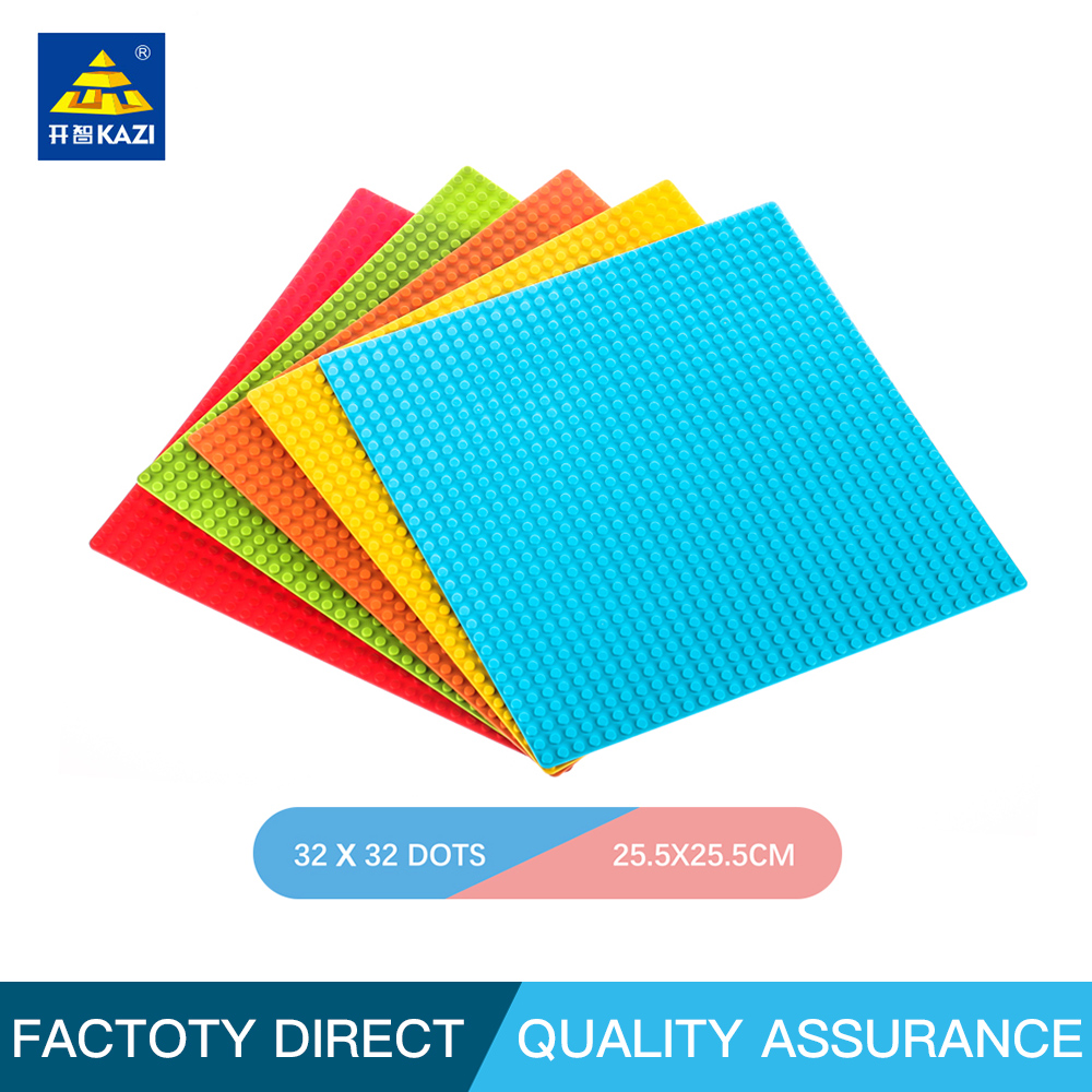 Buy KAZI 5 colors Classic Base Plates Plastic Bricks DIY Building Blocks Toys For Children Compatible Leg0 32*32 Dots for only 4.97 USD