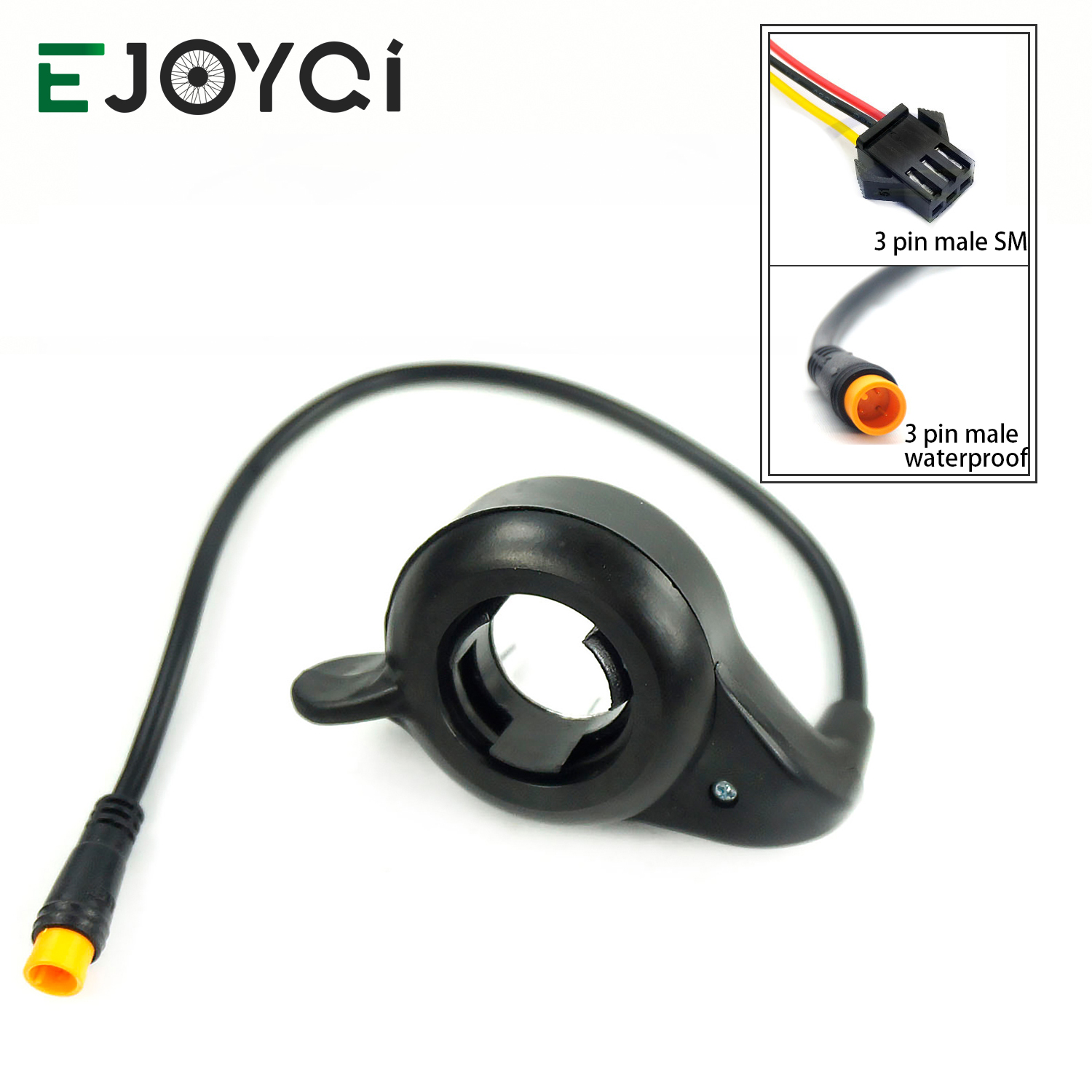 EJOYQI WUXING Brand Ebike FT-21X  Finger Thumb Throttle Right Hand SM Waterproof 3 Pin Connector Electric Bicycle Part