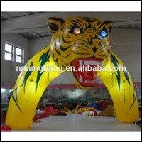 Бесплатная Доставка 5 м, 8 м Широкий надувные головы тигра арки для наружной рекламы (модель # nb5 ar07e)